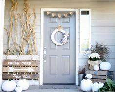 Halloween decorations : IDEAS & INSPIRATIONS  Neutral Fall Porch