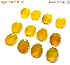 55% OFF SALE 12x10mm AAA Genuine Yellow by GemsAndBeadsEmporium