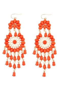These chandelier earrings named Flamenco give a gypsy-like feel and fiery flair, reminiscent of the Spanish dance tradition they're named for.