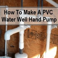 This is a great 9 part series of videos on how to make your own water well hand pump from readily available PVC plumbing parts. If the SHTF and you need water this could be a very handy skill to know or a very handy bit of… Survival Food, Survival Prepping, Survival Skills, Survival Hacks, Homestead Survival, Wilderness Survival, Survival Shelter, Emergency Preparedness Kit, Emergency Preparation
