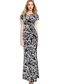 VfEmage Womens Summer Elegant Print Casual Party Pencil Long Maxi Dress 2076 Black M VfEmage http://www.amazon.com/dp/B01D5PA1DW/ref=cm_sw_r_pi_dp_H8Ufxb1TQR4MG