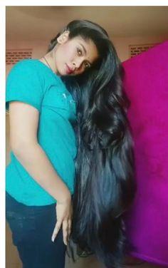 Indian Long Hair Braid, Braids For Long Hair, Long Black Hair, Super Long Hair, Beautiful Long Hair, Layered Cuts, Shoulder Length Hair, Female Images, Down Hairstyles