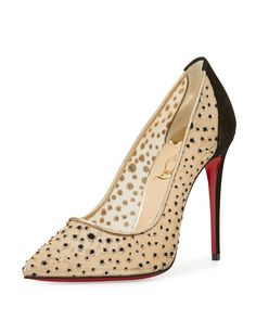 Christian Louboutin Follies Lace 100mm Red Sole Pump