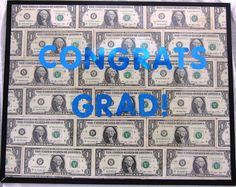 Your favorite grad will really appreciate this thoughtful starter fund. Make an eye-catching statement by framing your money gift. #cashcrafts #gradgifts