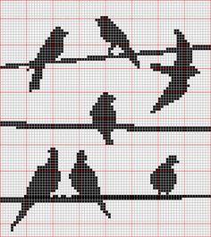 free cross stitch pattern, birds, cross stitch, patterns