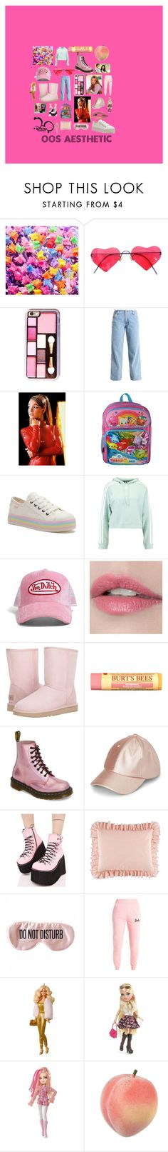"""""""Early oughts"""" by amber-mc-sweeney ❤ liked on Polyvore featuring Topshop, Shopkins, adidas Originals, Forever 21, UGG, Burt's Bees, Dr. Martens, Y.R.U., BaubleBar and Disney"""