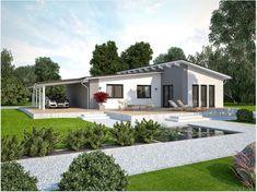 В современный. Home Building Design, Building A House, House Design, Style At Home, Bungalows, Tuscany Homes, Tiny Apartments, Level Homes, Facade House