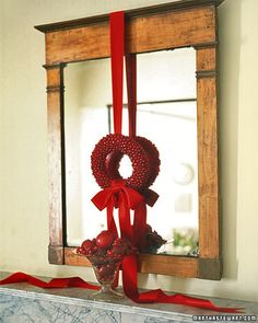 You can make this wreath with real cranberries, which will only last one season, or you can make it with red beads that mimic cranberries so it will last for many years.