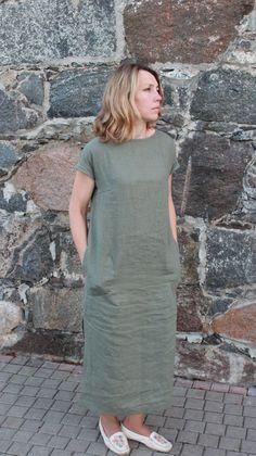 Linen dress organic linen clothing plus size linen by OldWallLinen . Plus Size plus size linen clothing Linen Dress Pattern, Linen Tunic Dress, Linen Dresses, Cotton Dresses, Women's Dresses, Plus Size Dresses, Fashion Dresses, Simple Dresses, Casual Dresses