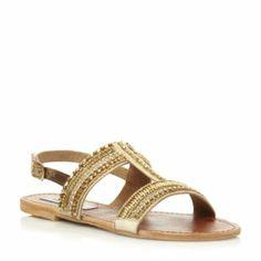 GILDEDD Beaded T-Bar Sandal