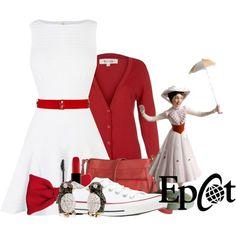 """Mary Poppins Disneybound"" by karlynedc on Polyvore"