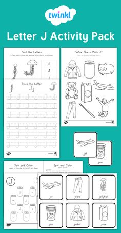 This fantastic bundle contains letter formation, letter identification and beginning sound activities for the letter J.