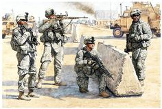 US Check Point in Iraq. *Repin by Tburg*