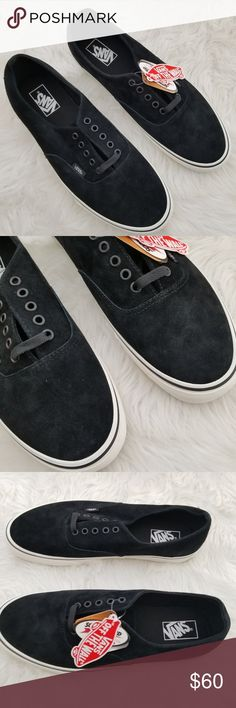 Vans Authentic Decon Black Suede Mens 12 NIB Brand new in box. Vans  Authentic Decon Lace Up Shoes Pig Suede Leather in Black. Men s Size Box  may have some ... aee37fee6