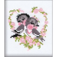 "First Love Counted Cross Stitch Kit-5""""X6.25"""" 10 Count                                                                                                                                                                                 Mais"