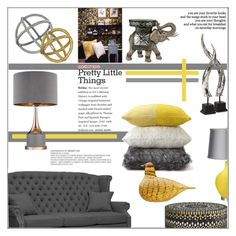 """""""Pretty Little Things"""" by pat912 ❤ liked on Polyvore featuring interior, interiors, interior design, home, home decor, interior decorating, Palecek, iittala, Ren-Wil and Reverie"""