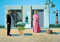 "David Hockney ""American Collectors (Fred and Marcia Weisman)"""