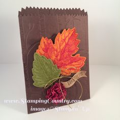Mini Treat Bags to Make, Autumn Paper Crafts, Vintage Leaves, Stampin' Up!, How to Make Paper Flowers