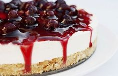 This smooth and creamy black cherry cheesecake recipes is topped with a black cherry sauce is decadent and delicious. Black Cherry Cheesecake Recipe from Grandmothers Kitchen. Mini Cheesecake, Cheesecake Recipes, Dessert Recipes, Cherry Cheescake, American Cheesecake, Food Cakes, Cupcake Cakes, Cupcakes, Berry Cheesecake