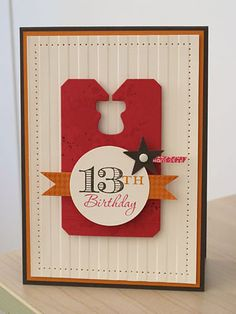 13th Birthday Grunge by stamper272001 - Cards and Paper Crafts at Splitcoaststampers