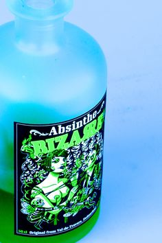 New Absinthe Bizarre from the Val-de-Travers.  Prepared following an ancient and unique recipe with plants native to the Val-de-Travers region. Cabaret Bizarre presents an Absinthe extravaganza that takes you to the edge of conventional existence, into a world of mystique, enchantment, jeopardy and thrill. Where dark fantasies become reality. Be enchanted by the bizarre Swiss seductress! www.absinthebizarre.ch