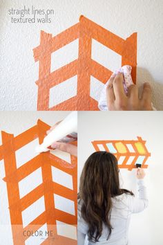 Paint wall ideas on pinterest how to paint striped for Painting lines on walls
