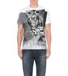 T-vanis abstract print t-shirt