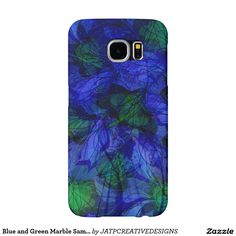Blue and Green Marble Samsung Galaxy S6 Cases