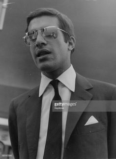 EVGENIA GL THE BELOVED SON Alexander Onassis, son of ship owner Aristotle, at an airport, circa 1970.