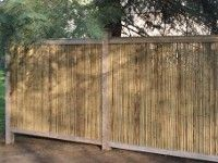 framed Bamboo Friendly Fence