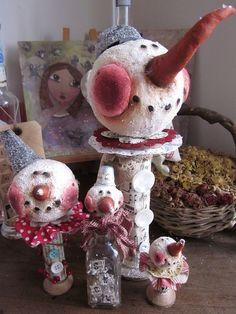 Lizziebusy Handmade: La famiglia snowie