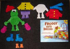 Froggy Gets Dressed Felt Board Story Set by flirtyflannels66, $19.00