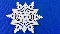 DIY. ✽ Снежинка из бумаги на Новый год ✽ SNOWFLAKE.
