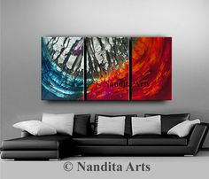 Abstract Blue Art Storm Color Blue Painting, Cool Tone Blue Wall Art Large Original Painting on Canvas Framed Blue Artwork by Nandita Blue Artwork, Large Artwork, Large Wall Art, Blue Painting, Acrylic Painting Canvas, Canvas Art, Large Canvas, Turquoise Wall Art, Black And White Canvas