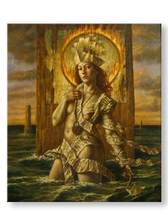 Jake Baddeley - Fire and Water                              Oil on canvas, 2011.