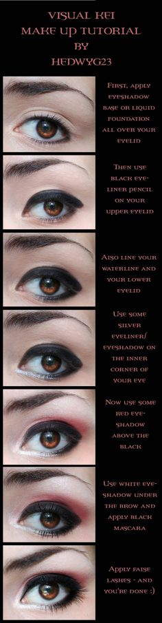 """Visual kei"" eye make up tutorial by Hedwyg23."