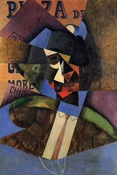 Juan Gris. (Sorry, I know the title of this piece, if you know her, please, delete this text and write. Many thanks). AR. Juan Gris, real name José Victoriano González-Pérez, was a Spanish painter who was active mainly in Paris as one of the masters of Cubism. Wikipedia