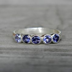 Iolite gemstone ring
