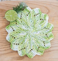 **Comes as a set of 2**  This Flower Kitchen Dishcloth in the color Key Lime Pie is made of 100% cotton and comes as a set of 2. Bright and cheerful, but also sturdy and long-lasting, you will not be disappointed. What a great gift for a birthday, housewarming, Mothers Day, bridal shower or wedding gift! Head on over to our Etsy shop to see all we have in store for you at www.SweetPeaKnittingShop.Etsy.com