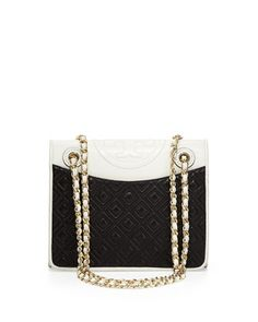 Fleming Medium Quilted Napa Flap Bag by Tory Burch at Neiman Marcus.