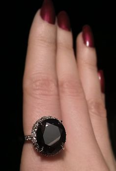 8.8 ctw. black diamond in 14k - oval shape. Size 7. Available $5,000 wildstylejewelry@gmail.com