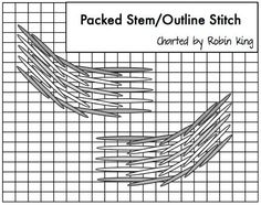 Packed Stem/Outline Stitch