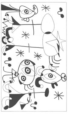 Raquel P. Drawing For Kids, Art For Kids, Art Adulte, Coloring Books, Coloring Pages, Joan Miro Paintings, Fish Coloring Page, Hummingbird Art, Winter Art Projects