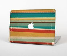 "The Vintage Orange Slanted Stripes Skin Set for the Apple MacBook Pro 15"" with Retina Display from Design Skinz"