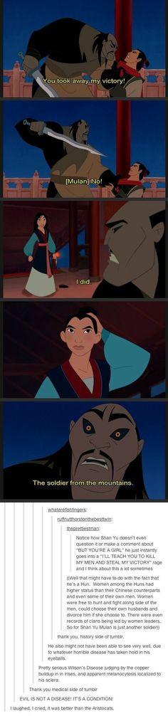 Mulan. . You took away my victory!