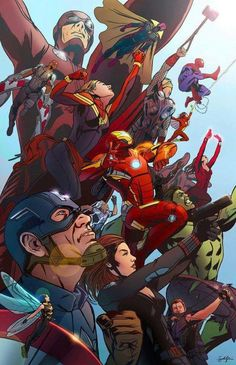 Os Vingadores   Fanart #MCU.
