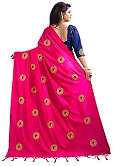 1f007a0355599 Kuvarba Fashion Women s Silk Saree With Blouse Piece (3002.pink