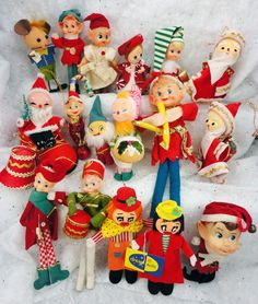 elf Japan ornaments vintage