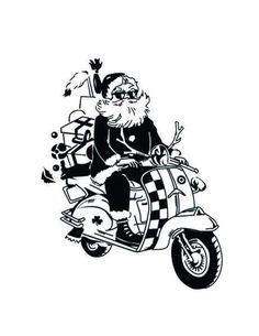 Christmas Vespa Santa