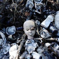 Scary Macabre Photography, Creepy Doll Art, Gothic Decor. $8.00, via Etsy.